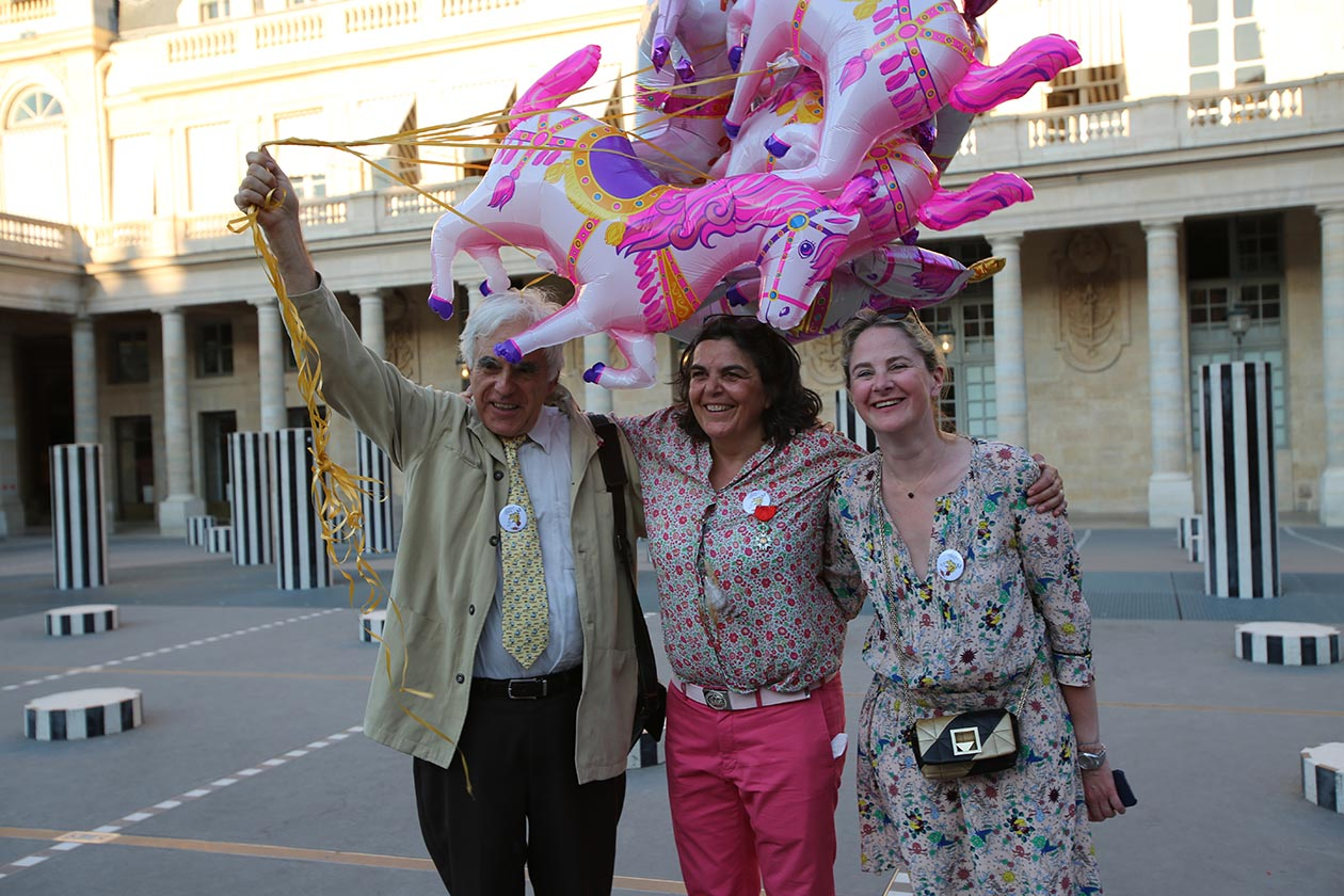 Albertine Meunier entourée de Gérard Berry et Elizabeth Mabin