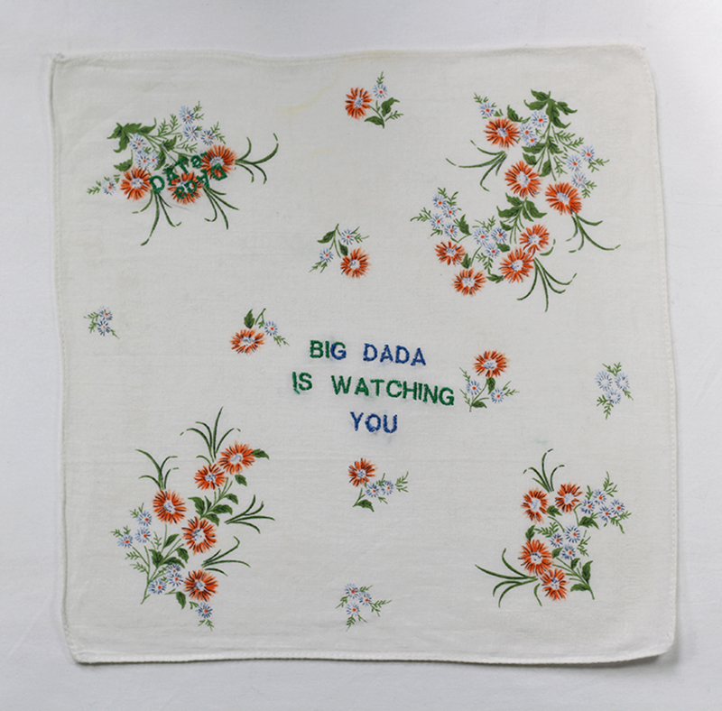 Series BIG DADA IS WATCHING YOU // Handkerchief DADA FLEURS OCRES // Blockchain ID : 1KedKy8feM2T4N9tzeqoNwRcuDTBnHJYJH