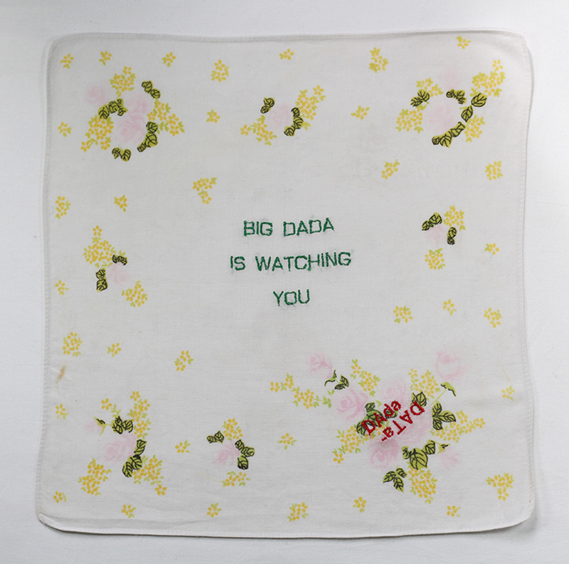 Series BIG DADA IS WATCHING YOU // Handkerchief DADA FLEURS JAUNES // Blockchain ID : 1BrcueKYHFe1SLFEKVEKLYuuJJExxDFdDq