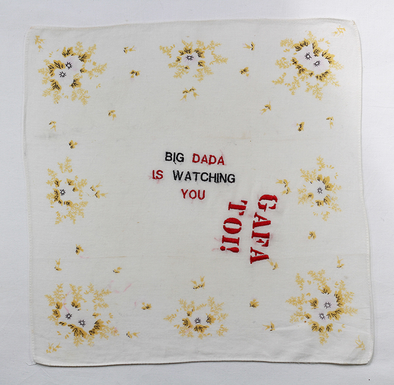 Series BIG DADA IS WATCHING YOU // Handkerchief DADA IS YOU  // Blockchain ID : 1D3KD1ANt5zU7yqKHHSaK8frQ739dyHjKd