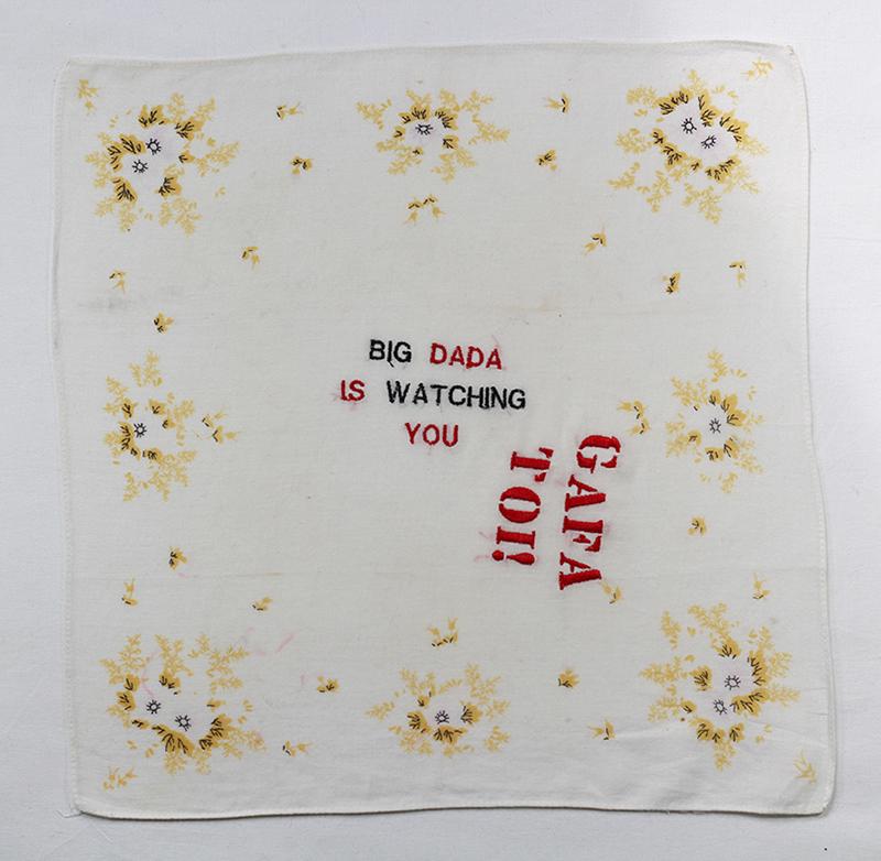Série BIG DADA IS WATCHING YOU // Mouchoir DADA IS YOU  // Blockchain ID : 1D3KD1ANt5zU7yqKHHSaK8frQ739dyHjKd