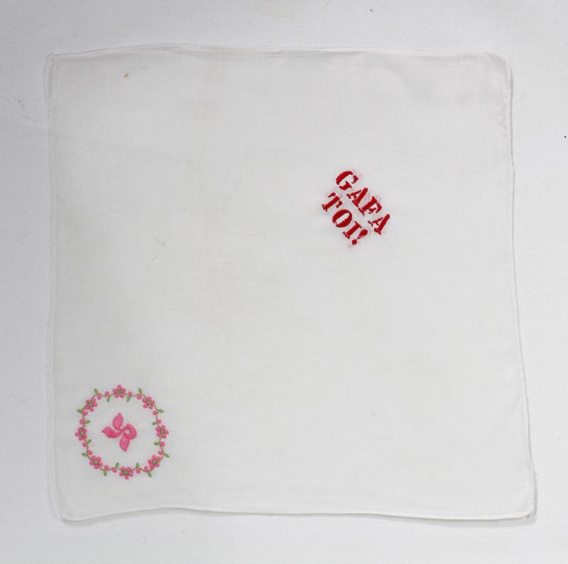 Series GAFA TOI! // Handkerchief GAFA TOI! & RX // Blockchain ID : 1PkNGqqcBg6sxP4mzdzm7Xq9PLpT6uYUk2