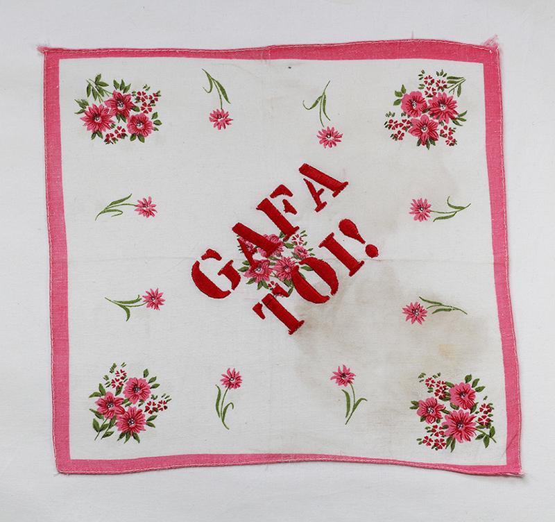 Series GAFA TOI! // Handkerchief BIG GAFA TOI! // Blockchain ID : 1BvLz6qSart3GhzH57x1dbyDvTR5TyZUsm