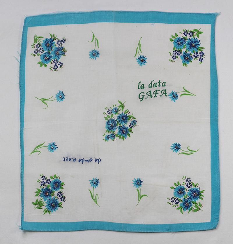 Series Data GAFA // Handkerchief GAFA da a-da a.net // Blockchain ID : 17xEQY7WED9xehsKofYat13HNaUsT9S1pn