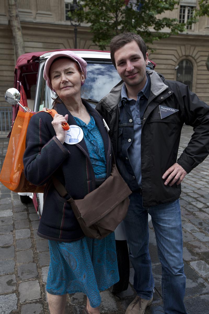 Evelyne et Julien pendant Futur en Seine, Paris . Photo : F. Mit