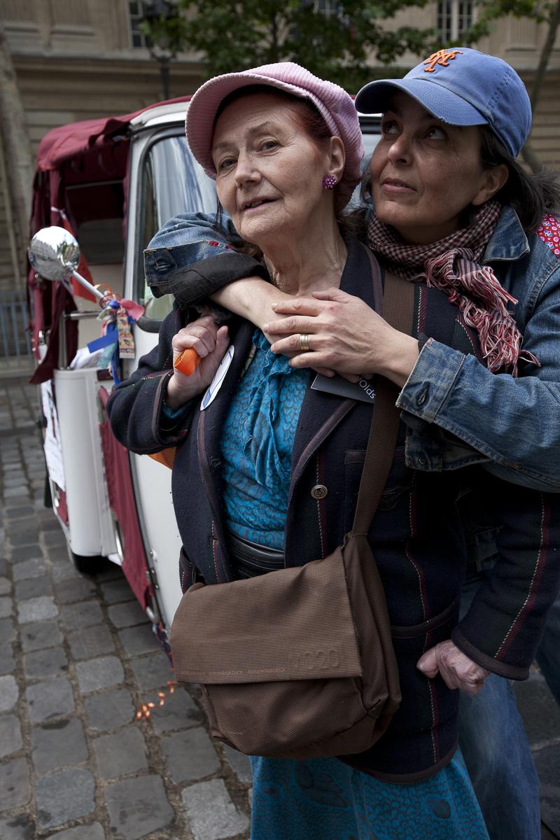 Evelyne et Albertine pendant Futur en Seine, Paris . Photo : F. Mit