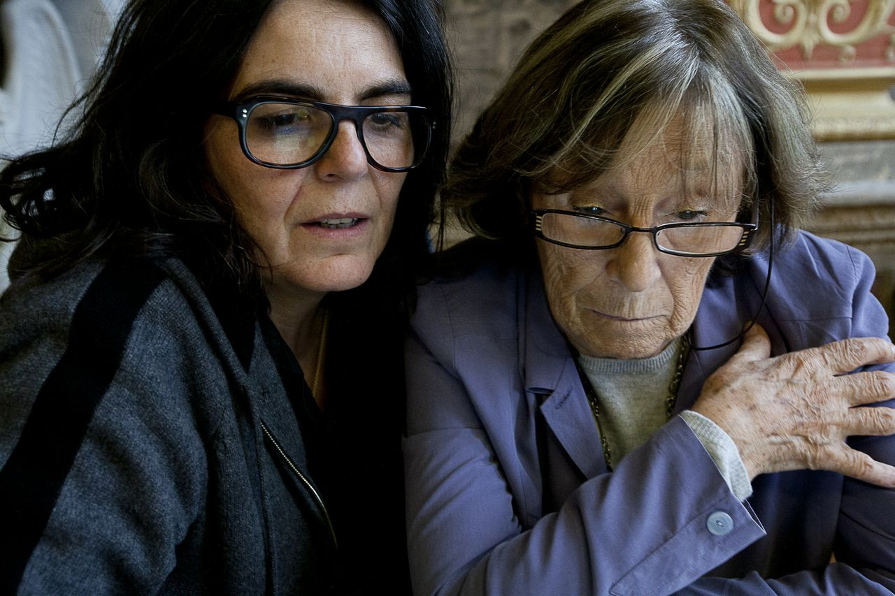 Albertine et Gisèle . Photo : F. Mit