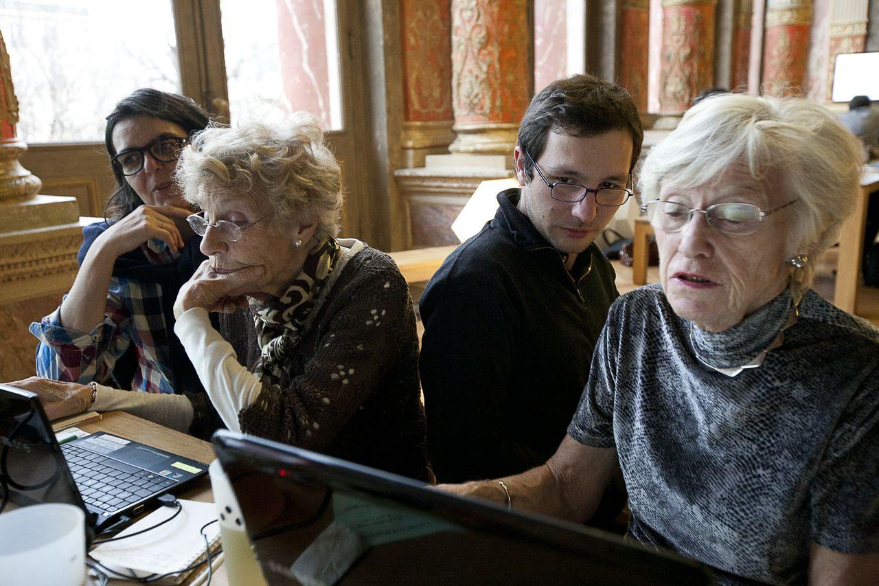 Albertine, Nicole, Julien et Lizzie . Photo : F. Mit