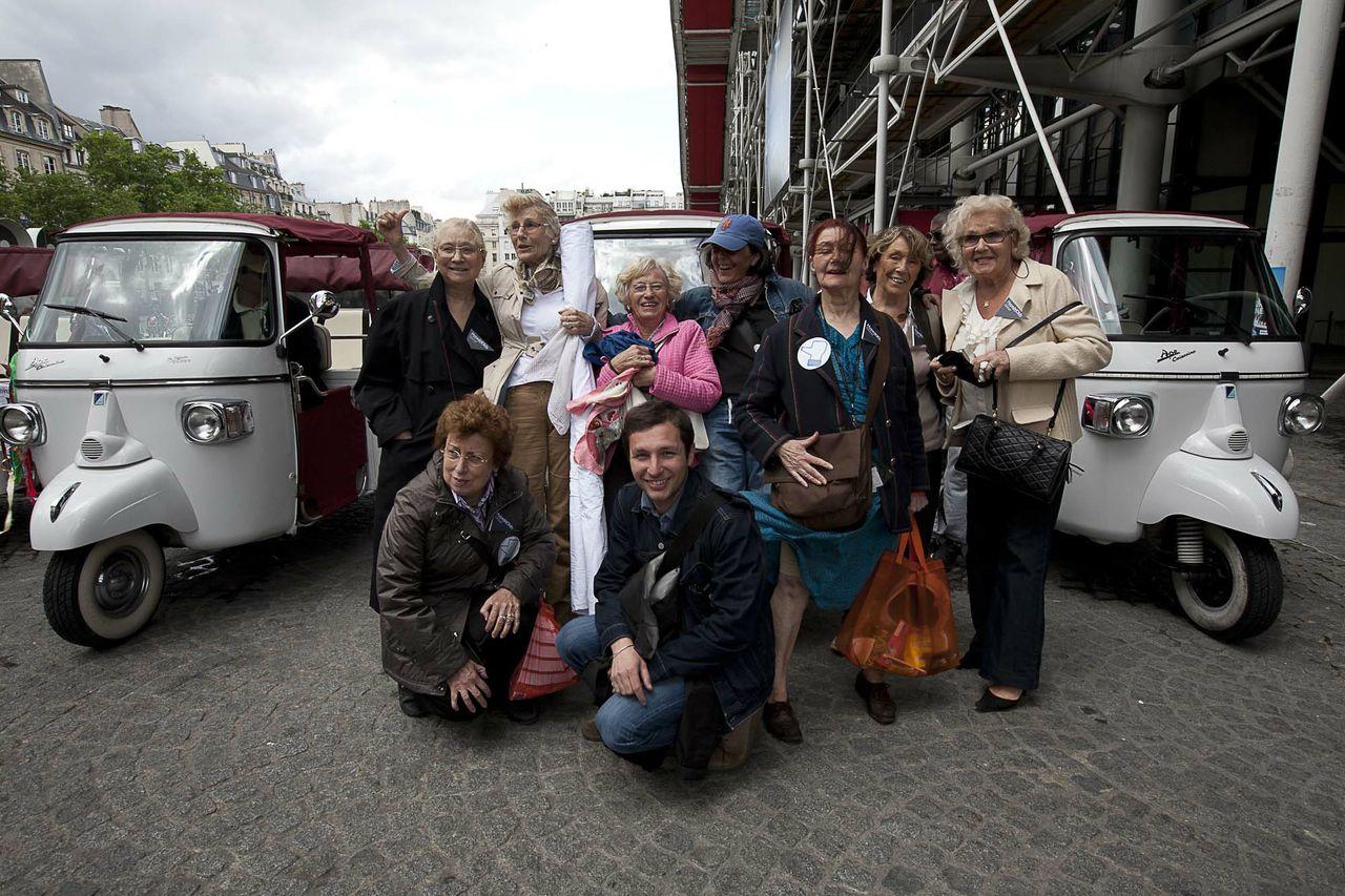 Les dames de Hype(r)Olds, Albertine et Julien pendant Futur en Seine, Paris