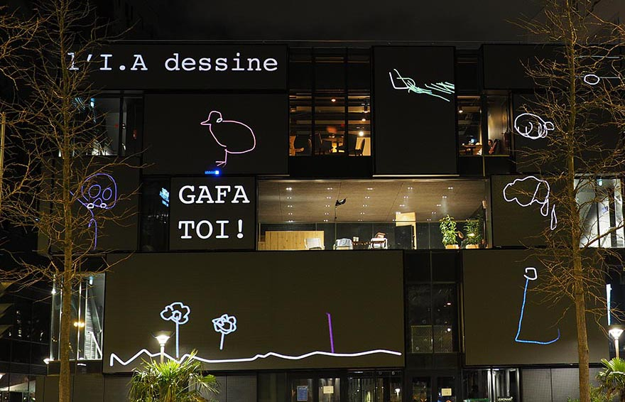 A.I is drawing, GAFA TOI ! Patatras