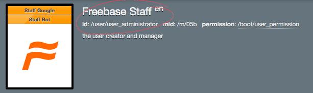 illustration 1 :  le user administrator est un travailleur de chez Freebase | www.freebase.com/user/user_administrator?writes=
