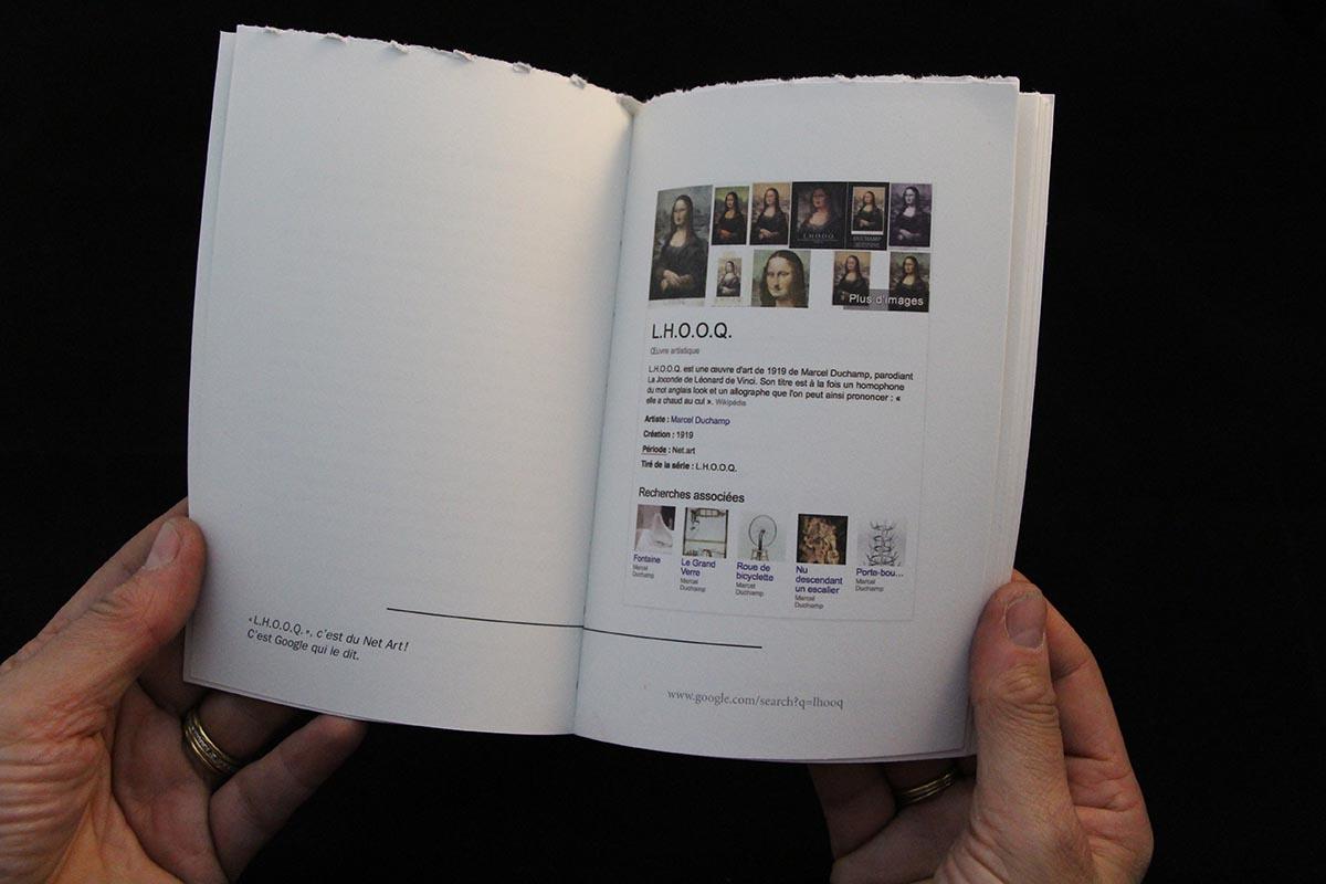 Détail intérieur du livre les Dessous de L.H.O