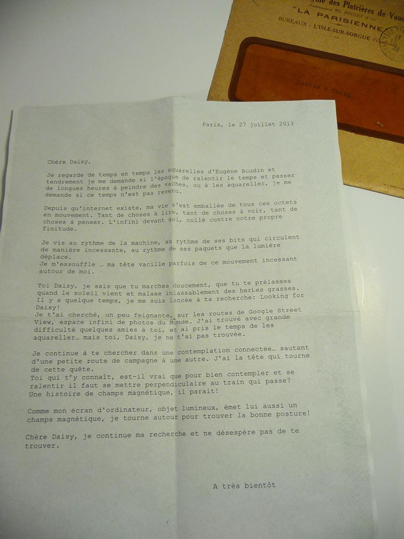 Le papier sensible et la lettre à Daisy