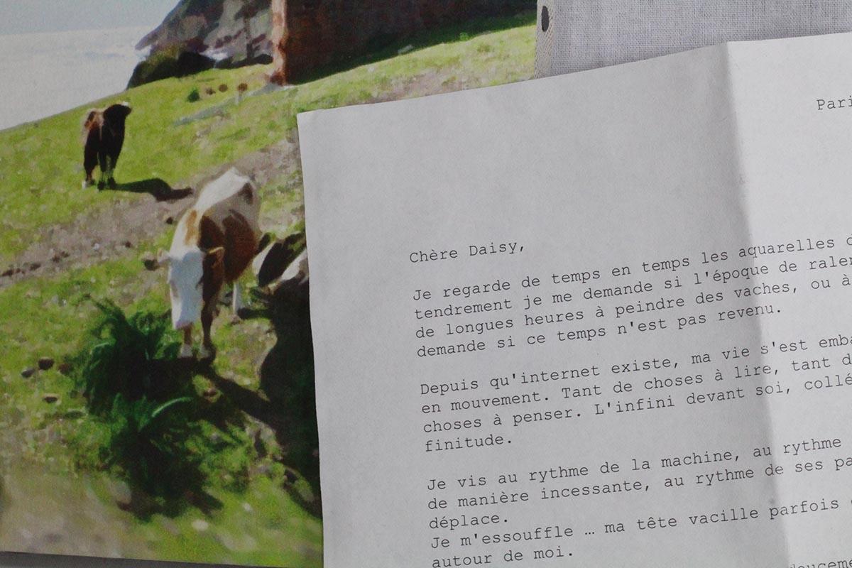 La lettre à Daisy et une aquarelle