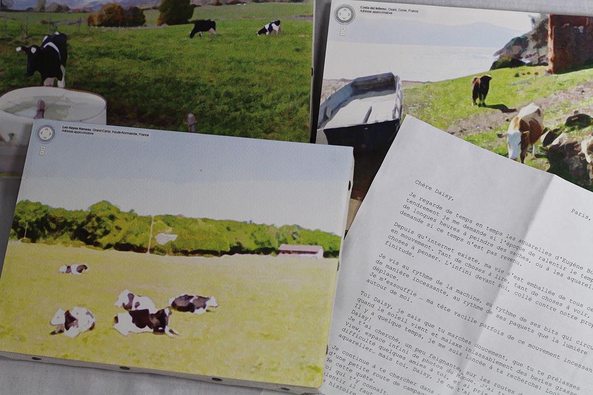 La lettre à Daisy et plusieurs aquarelles